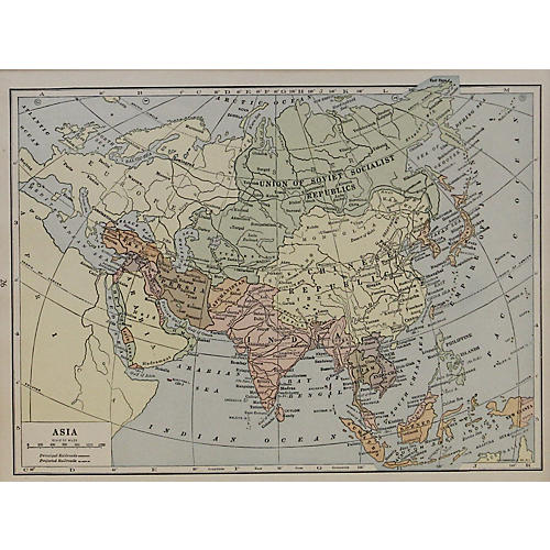 Asia Map, 1929