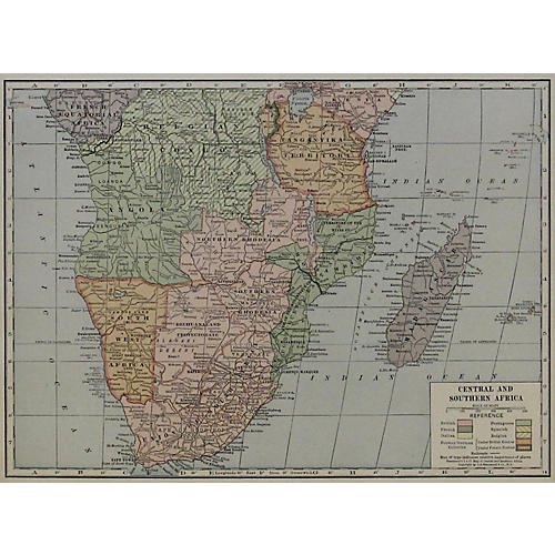 Central & Southern Africa, 1929