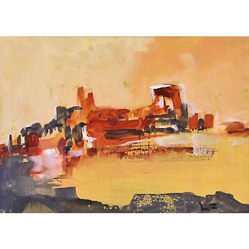 Abstract Hillside Town