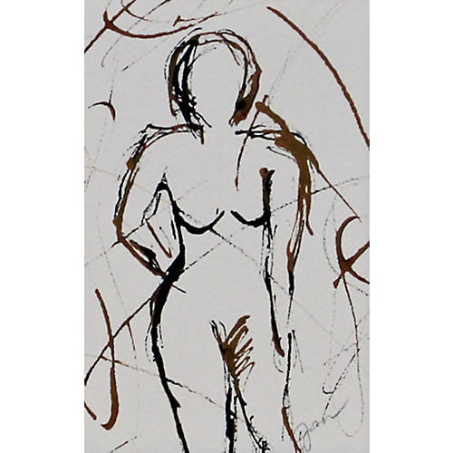 Abstract Standing Nude
