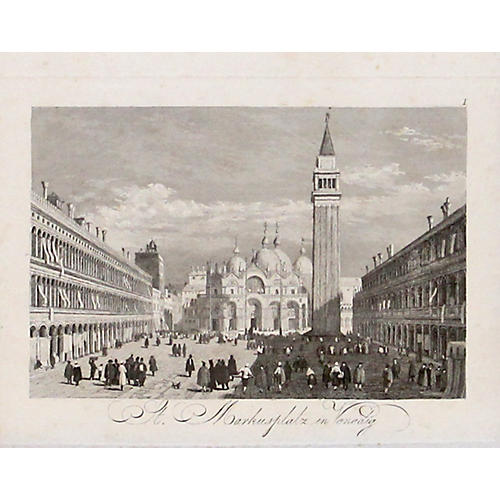 St. Mark's Square Venice, 1838