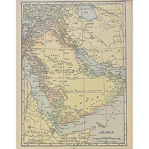 Map of Arabia, 1929