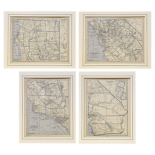 1929 Maps of California, S/4
