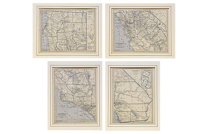 1929 Maps of California, S/4