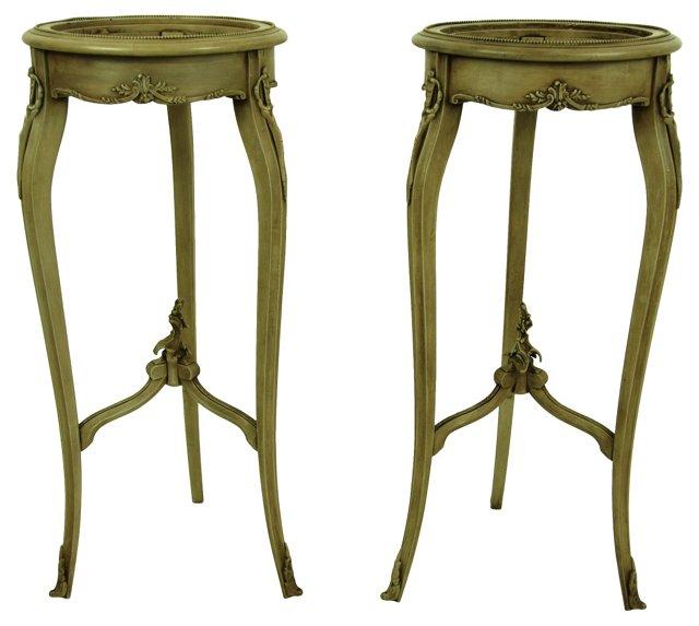 Louis XVI-Style Pedestals, Pair