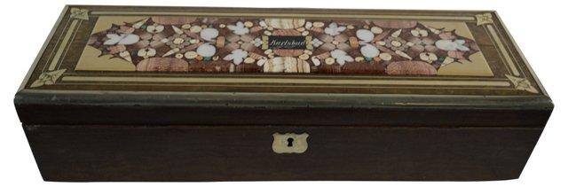 19th-C. Pietra Dura Czech Box