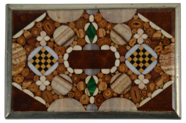 19th-C. Pietra  Dura Box