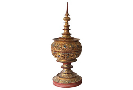 Burmese Gilded Food Box