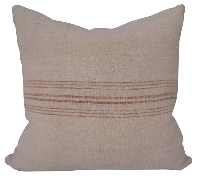 Soft Toffee Stripe Sack Pillow