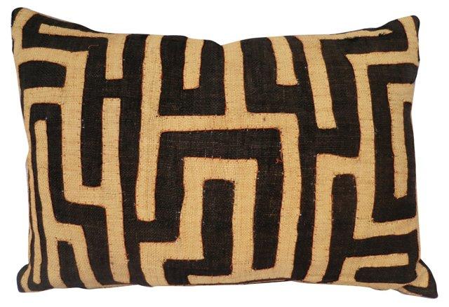Pillow w/ African Raffia