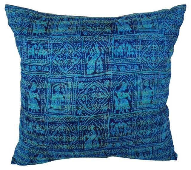 Silk Oversewn  Tribal Pillow