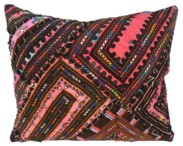 Pink Hand Quilted Pillow