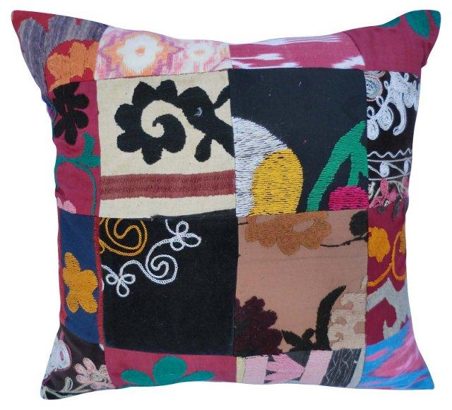 Ikat & Suzani  Patchwork Pillow