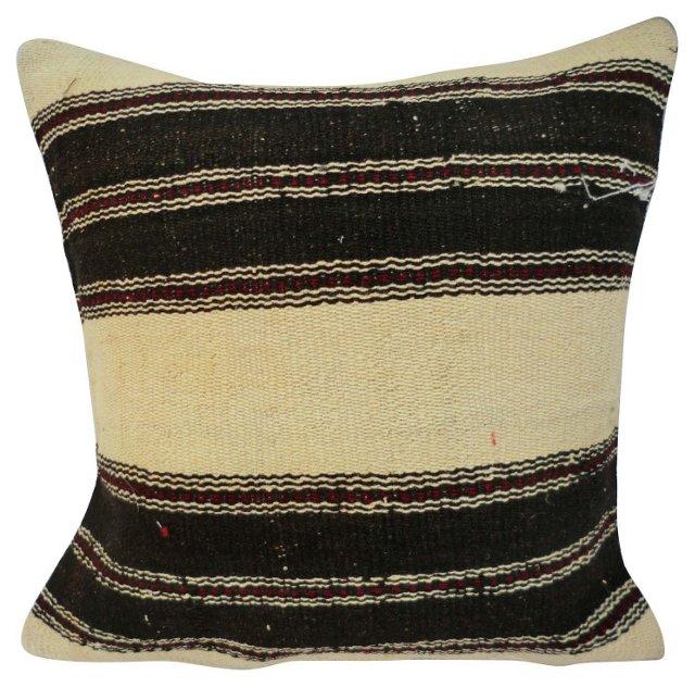 Turkish Kilim  Striped  Pillow