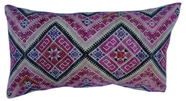 Embroidered Hill Tribe Pillow