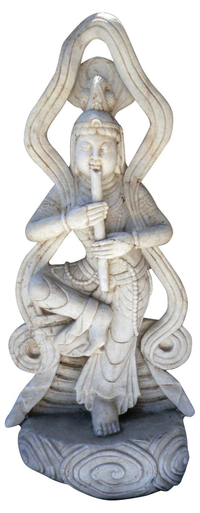 19th-C. 40 Inch Marble Deity