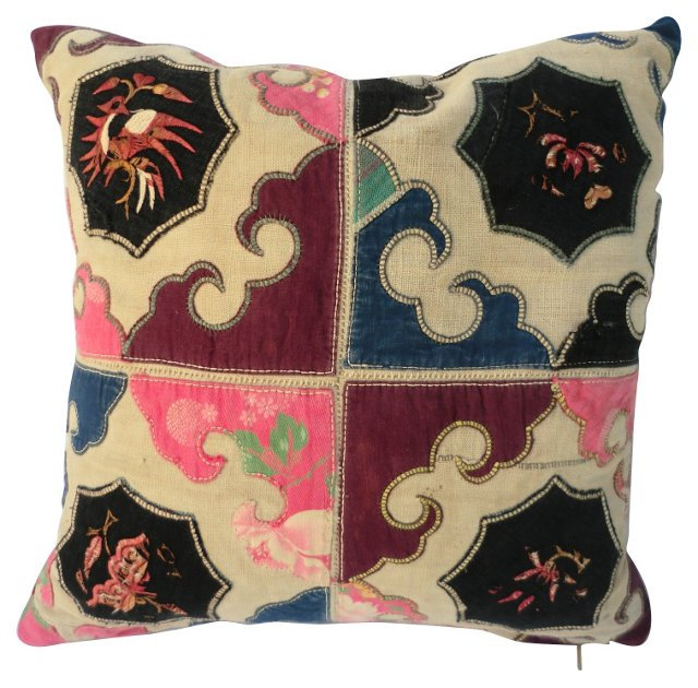 Tribal Appliqué Quilt Pillow