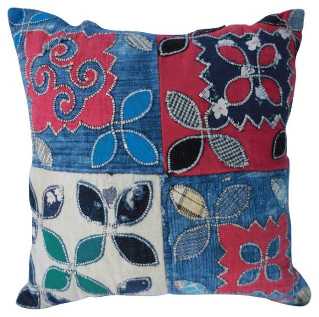 Indigo Patchwork    Pillow