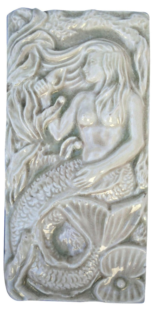 Majolica Mermaid Tile