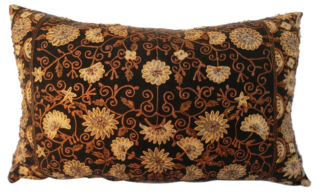 Cashmere Beaded Pillow