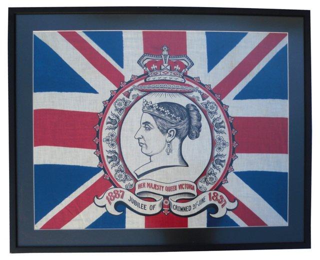 Framed Queen Victoria Flag, 1897
