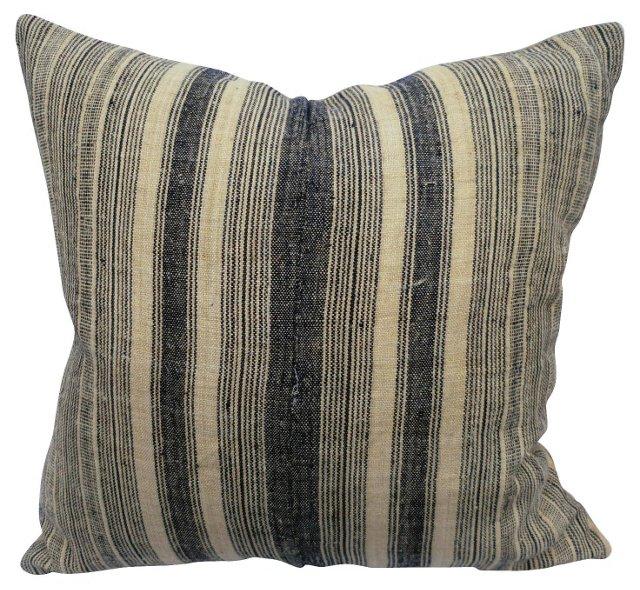 Striped Hmong Linen Pillow