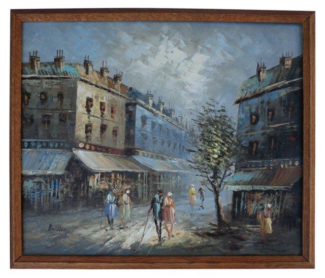 Paris Street Scene, 1950s