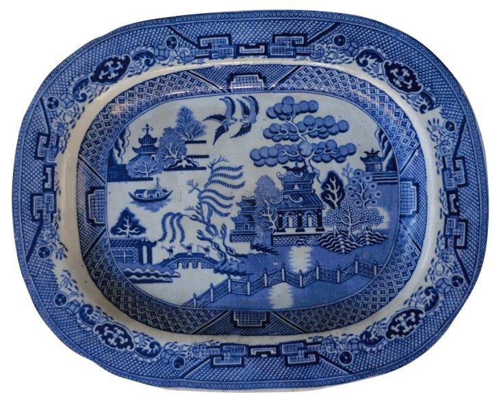 Blue Willow  Wall  Platter