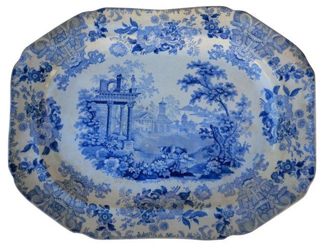 19th-C.  Pastoral Wall Platter