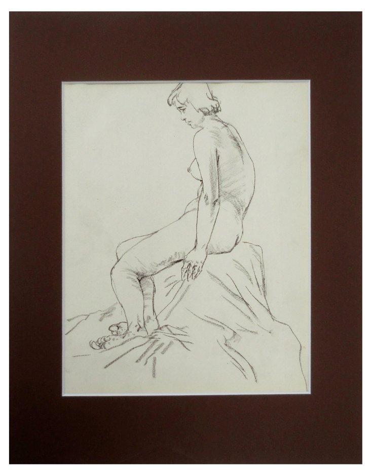 Nude Sketch, 1930s