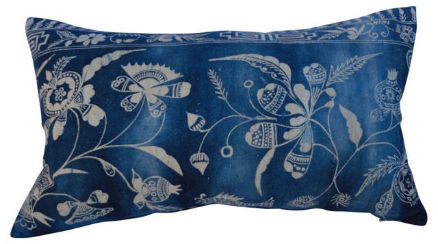 Hand-Worked Batik Pillow