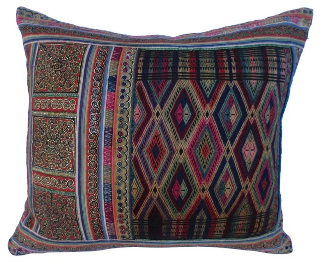 Bejeweled Embroidered Pillow