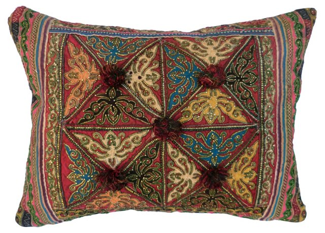 Bejeweled Tribal  Pillow