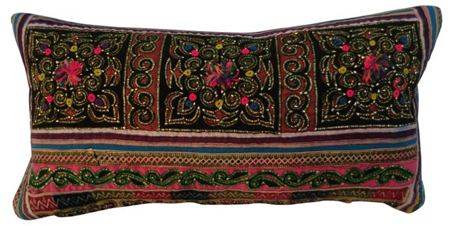 Jewelled Embroidery  Pillow