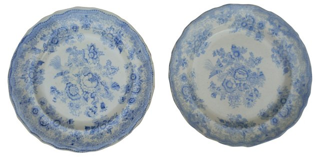 Asiatic Wall Plates, Pair