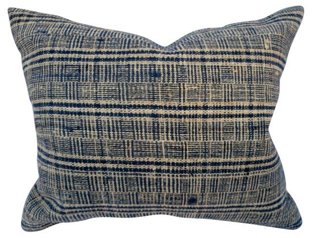 Homespun Indigo Plaid Pillow