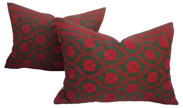 French Victorian   Pillows, Pair