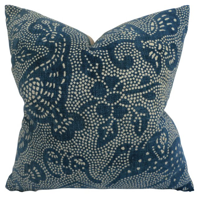 Batik Peacock Pillow