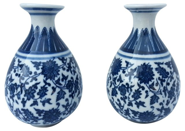 Chinese Export Vases, Pair