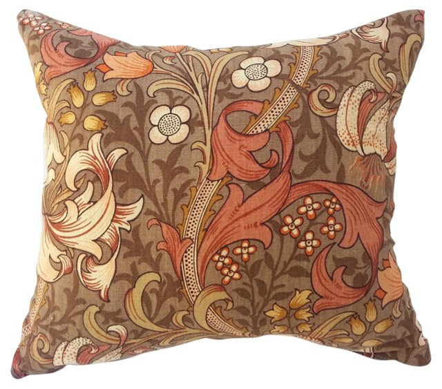 Linen William Morris Lily Pillow
