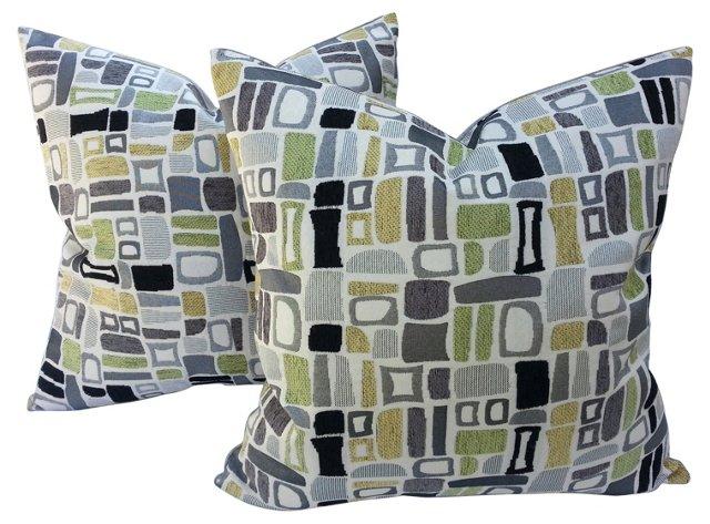 Italian Contemporary Pillows, Pair
