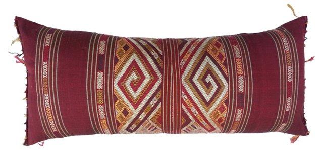 Tribal Embroidered Body Pillow
