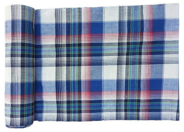 Madras Fabric, 11.6 Yds