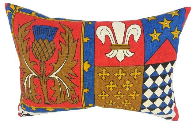 English Coat of Arms Pillow