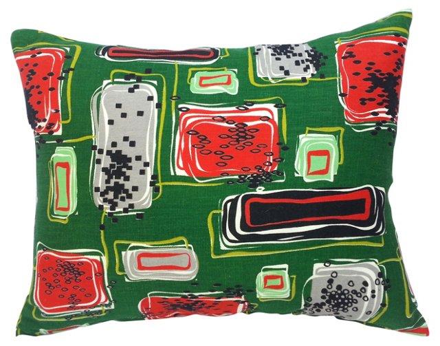 Midcentury Textile   Pillow