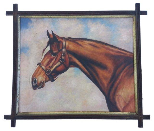 English Oil Horse Portrait