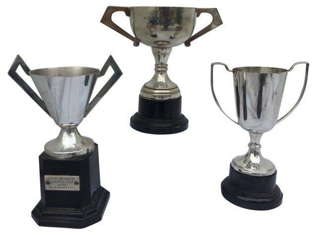 Art Deco Trophies,  S/3