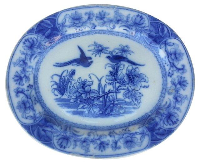 Edwardian Flow Blue Wall Platter