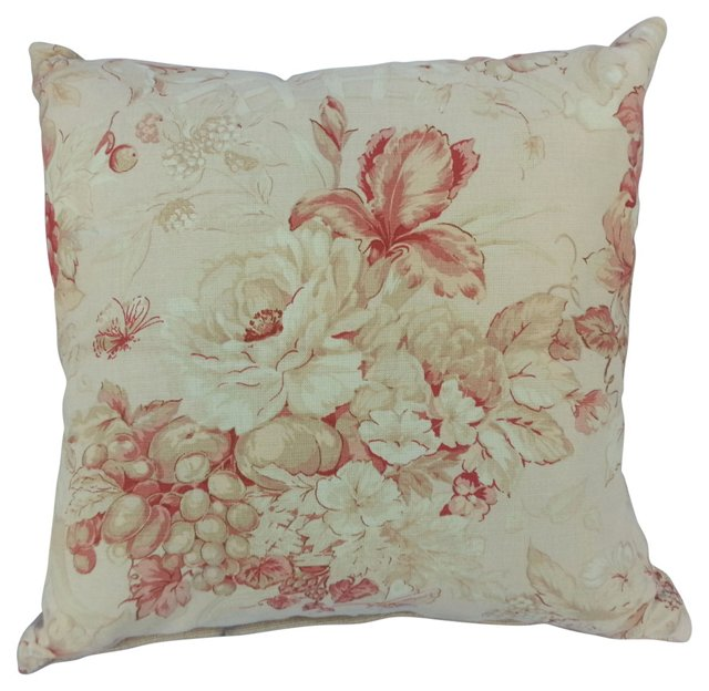 Iris &    Rose Linen Pillow