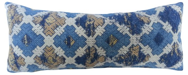 Hill Tribe Embroidered Lumbar Pillow